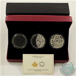 RCM Issue; 2017 $25 3-Phases of the Moon Fine Silver 3-coin Set (Tax Exempt).