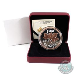 RCM Issue; 2018 1-cent Big Coin Rose-Gold Plated 5oz. Fine Silver (Tax Exempt).