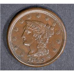 1846 LARGE CENT, CHOICE AU