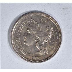 1872 3-CENT NICKEL, CH BU