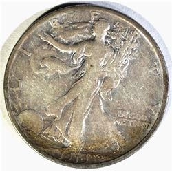 1919-S WALKING LIBERTY HALF DOLLAR, VF SCARCE!!
