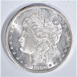 1880-CC MORGAN DOLLAR, GEM BU+ BLAZER!!