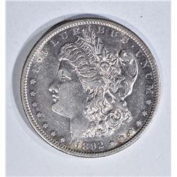 1892-S MORGAN DOLLAR, AU KEY DATE!