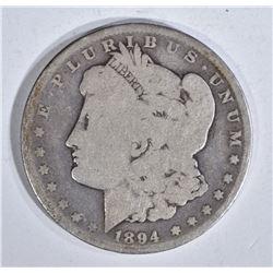 1894 MORGAN DOLLAR, VG, KEY DATE