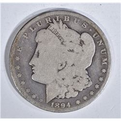 1894 MORGAN DOLLAR, VG, KEY DATE