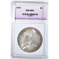 1879 MORGAN DOLLAR, NGP GEM BU+