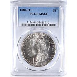 1884-O MORGAN DOLLAR PCGS MS64