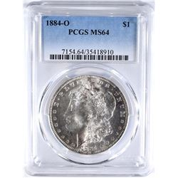 1884-O MORGAN DOLLAR PCGS MS64