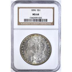 1896 MORGAN DOLLAR NGC MS64