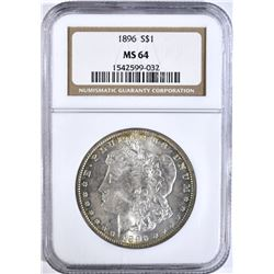1896 MORGAN DOLLAR NGC MS64