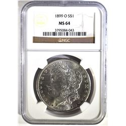 1899-O MORGAN DOLLAR, NGC MS-64