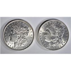 1880 & 1887 MORGAN DOLLARS CH BU