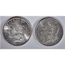 1881 & 1897 MORGAN DOLLARS CH BU
