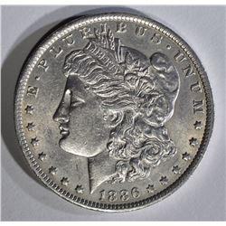 1886-O MORGAN DOLLAR AU++