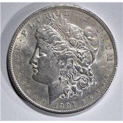 1891 MORGAN DOLLAR AU/BU