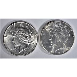 2 1926-S PEACE DOLLARS BU