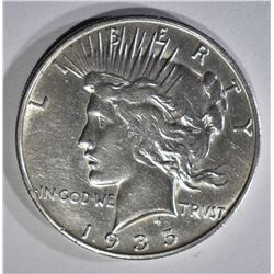 1935-S PEACE DOLLAR AU CLEANED