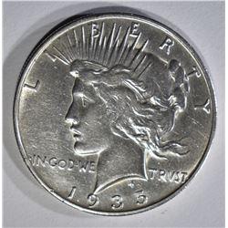 1935-S PEACE DOLLAR AU CLEANED