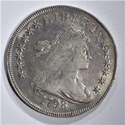 1798 BUST DOLLAR FINE OBV. ADJUSTMENT MARKS