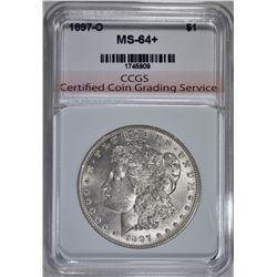 1897-O MORGAN DOLLAR CH BU+ CCGS