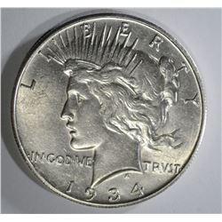 1934-S PEACE DOLLAR CH BU