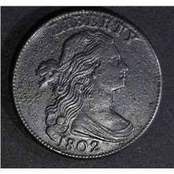 1802 LARGE CENT XF SOME POROSITY
