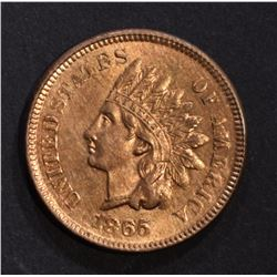 1865 INDIAN HEAD CENT BU RED CLEANED