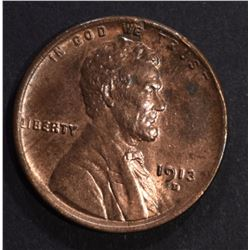 1913-D LINCOLN CENT CH BU RB