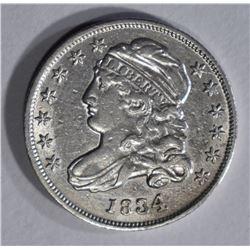 1834 BUST DIME XF/AU