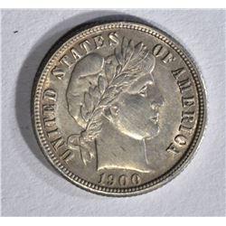 1900-O BARBER DIME AU/BU