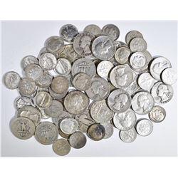 $10-FACE VALUE MIXED 90% SILVER COINS