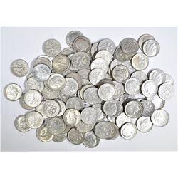 $10.00 FACE VALUE 90% SILVER ROOSEVELT DIMES