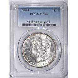 1884-O MORGAN DOLLAR, PCGS MS-64