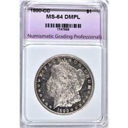 1890-CC MORGAN DOLLAR, NGP CH/GEM BU DMPL