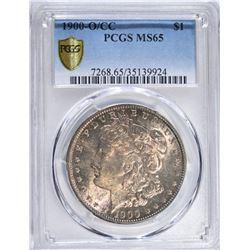 1900O/CC MORGAN DOLLAR, PCGS MS-65