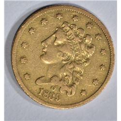 1839-O $2 1/2 GOLD  XF