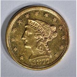 1877-S $2 1/2 GOLD LIBERTY HEAD  BU