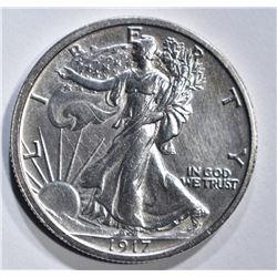 1917 WALKING LIBERTY HALF DOLLAR  CH BU