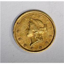 1851 C $1.00 GOLD  AU+