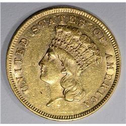 1860 $3.00 GOLD  CH BU