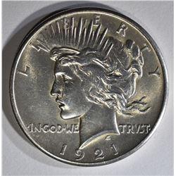 1921 PEACE DOLLAR BU CLEANED