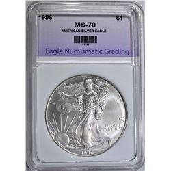 1996 AMERICAN SILVER EAGLE DOLLAR