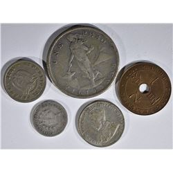 FOREIGN LOT: 1908 FILIPINAS ONE PESO,