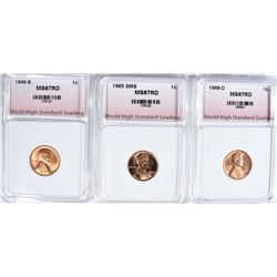 1946-S, 1965 SMS 1968-D LINCOLN CENTS