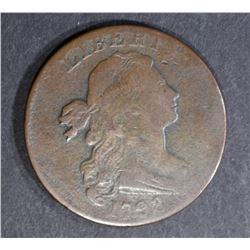 1798 LARGE CENT, F/VF
