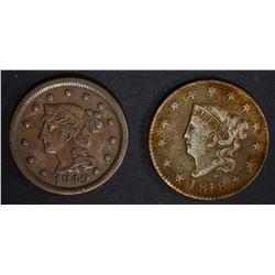 1849 VF & 1818 VF LARGE CENTS porosity