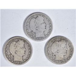 3-SEMI KEY DATE BARBER QUARTERS