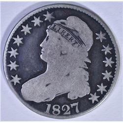 1827 BUST HALF DOLLAR, O-136, VG
