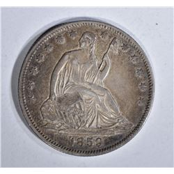 1859-O SEATED HALF DOLLAR, AU