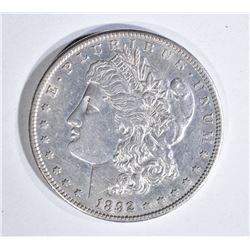 1892-S MORGAN DOLLAR, AU+